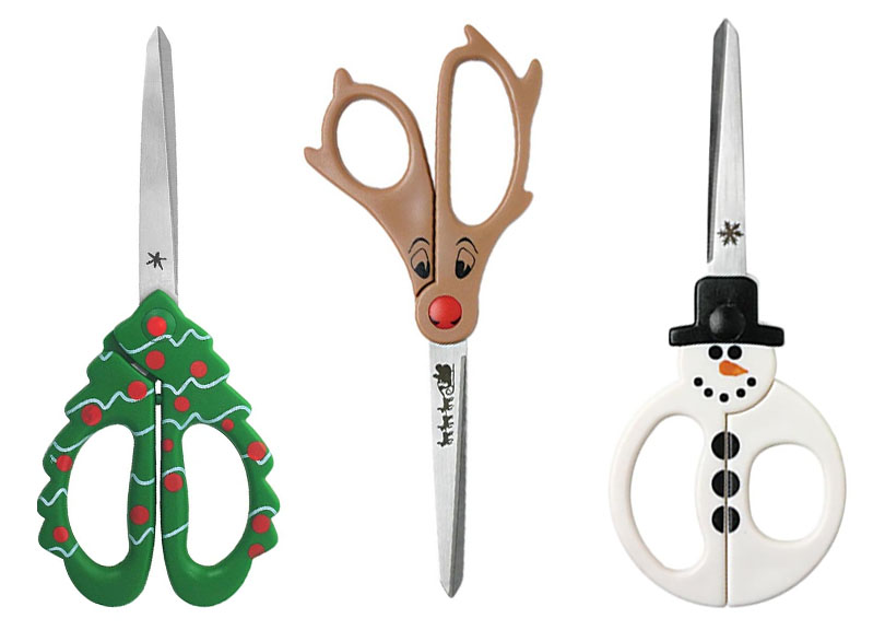 save on everything, holiday scissors